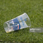 plastic beer cup during the Dutch Eredivisie match between PSV Eindhoven and Ajax Amsterdam at the Phillips stadium on September 22, 2019 in Eindhoven, The Netherlands(Photo by VI Images via Getty Images)